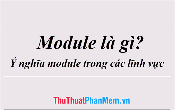 Module là gì? Giải thích Module trong các lĩnh vực