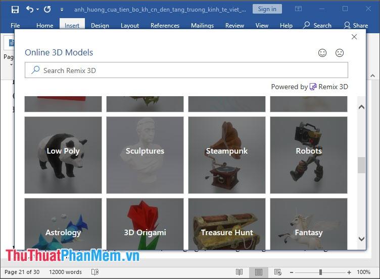 Online 3D Models