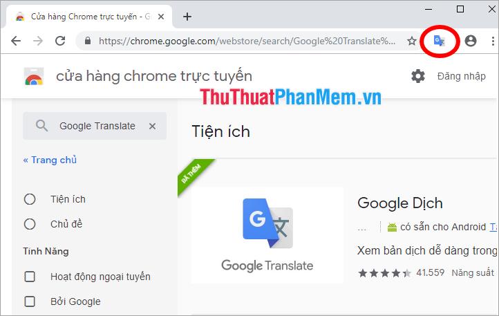 Biểu tượng Google Translate