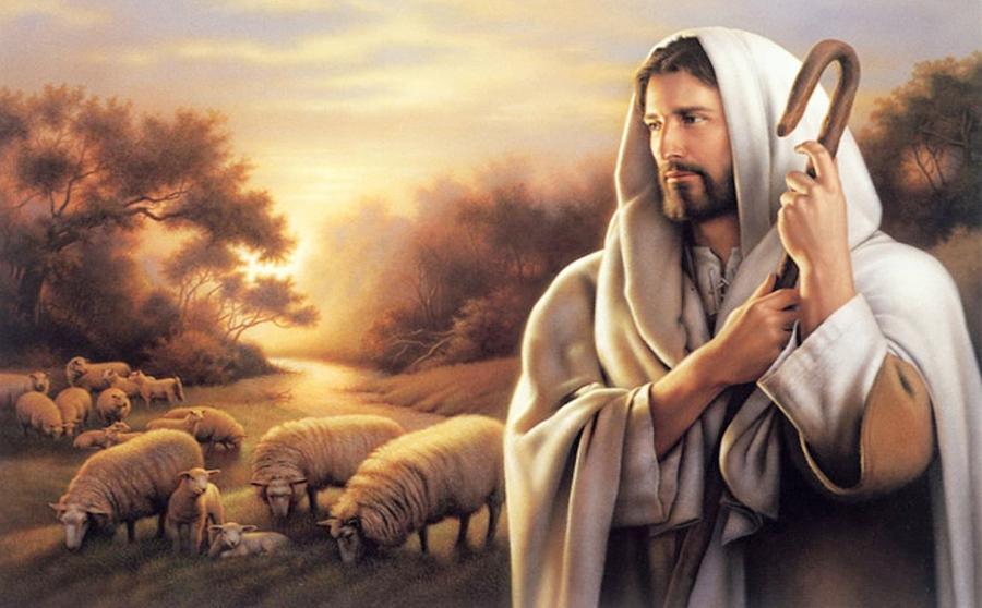 Chúa Giêsu đang chăn cừu