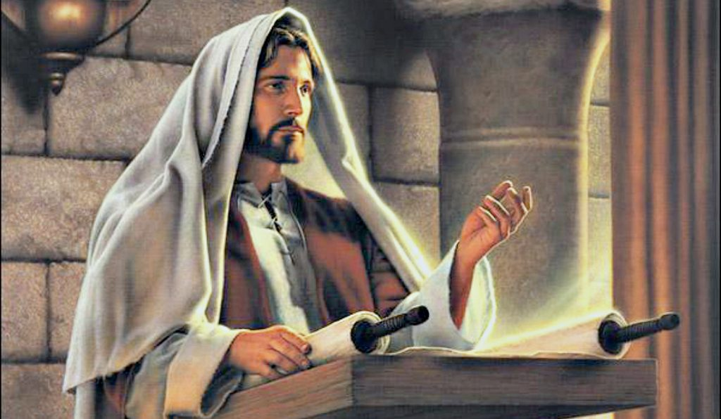 Chúa Giêsu đang giảng đạo cho mọi người