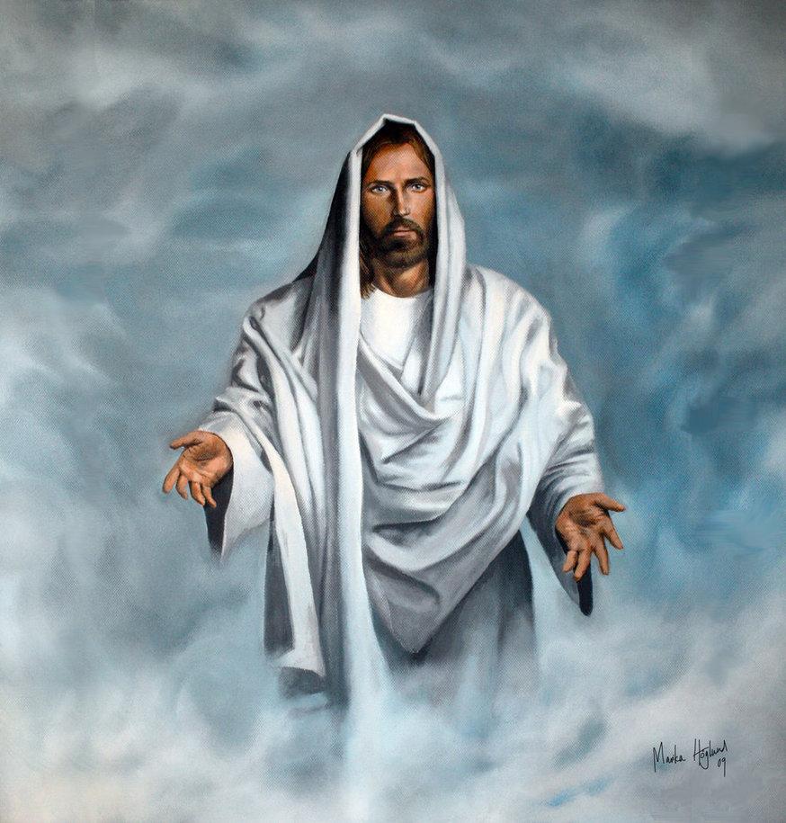 Chúa Giêsu giang rộng vòng tay chào đón tông đồ của mình