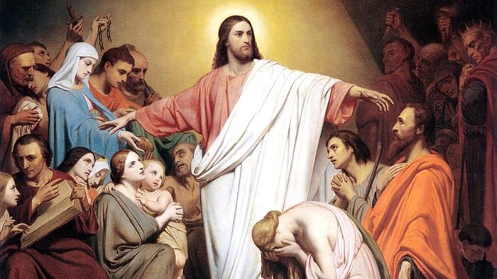 Chúa Giêsu trở về với sự chào đón của mọi người