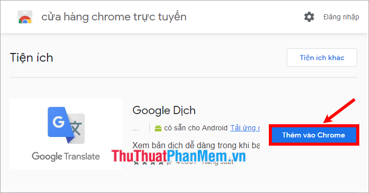 Thêm vào Chrome