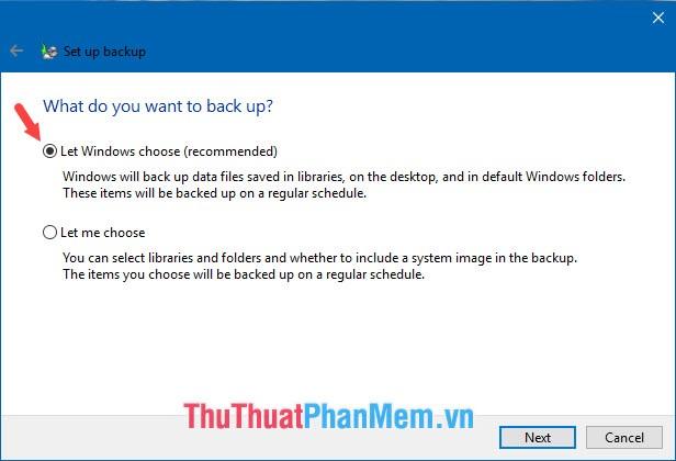 Let Windows choose