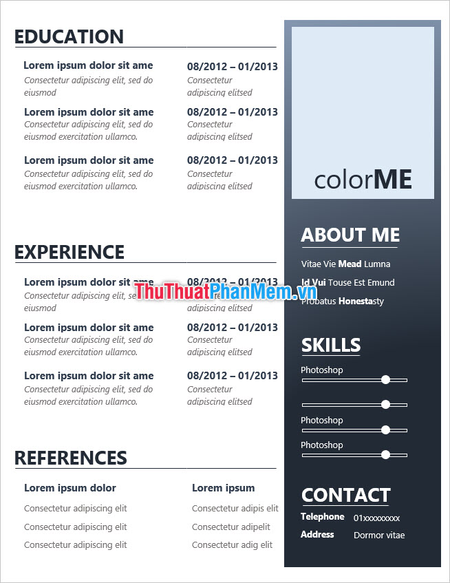 Mẫu CV xin việc đẹp và chuẩn