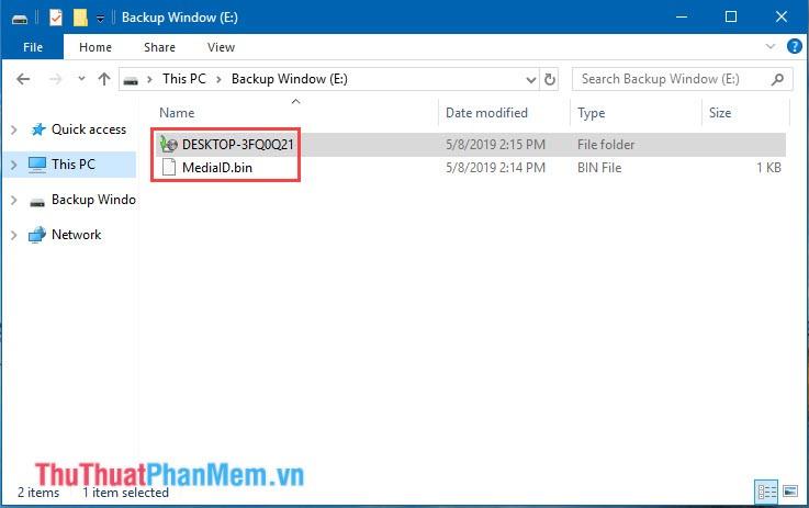 Mở thử ổ đĩa chứa file Backup