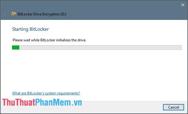 Thiết lập BitLocker cho ổ đĩa