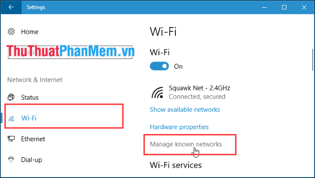 Manage known networks