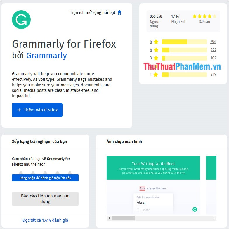 Grammarly for Firefox