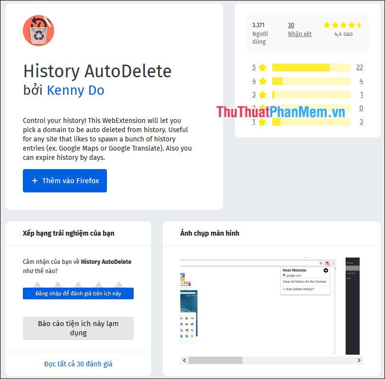 History AutoDelete