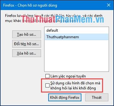 Khởi động Firefox
