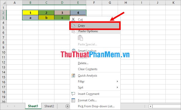 cách cấu kết dữ liệu, kết nối dữ liệu giữa 2 sheet trong excel