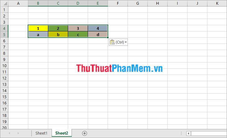 cách liên minh dữ liệu, kết nối dữ liệu giữa 2 sheet trong excel