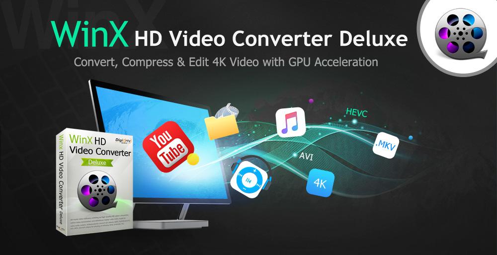 WinX HD Video Converter Deluxe - Đánh giá và tặng bản quyền miễn phí
