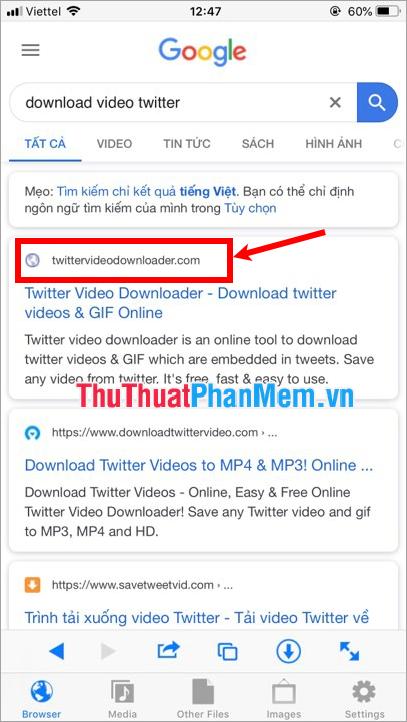 Truy cập vào Twittervideodownloader