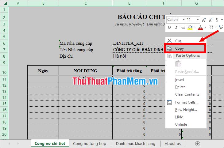 cách copy sheet từ file excel này sang file excel khác