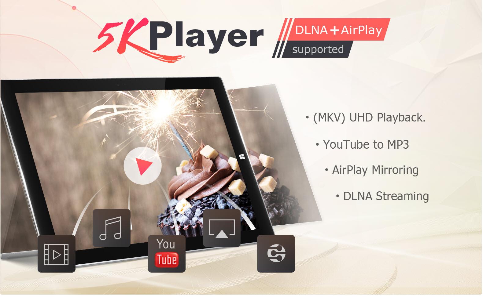 5KPlayer - Phần mềm xem, download, stream và cắt Video 4K tốt nhất